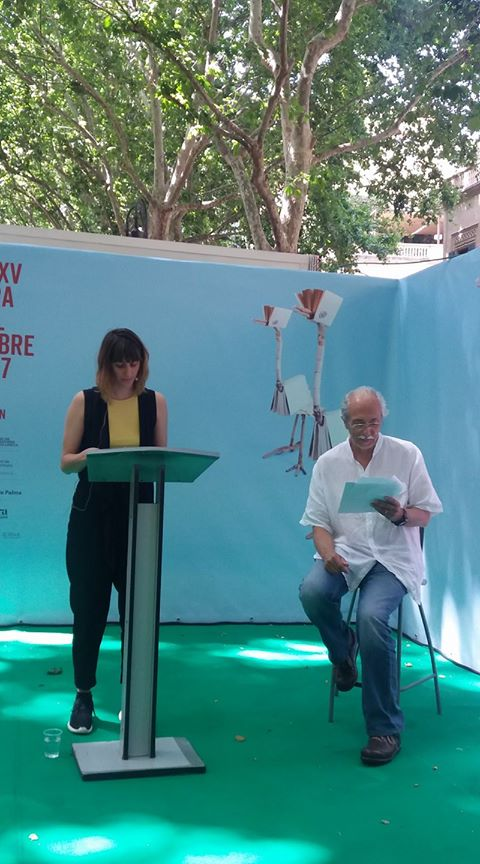 Clara Ingold i Miquel Rayó a la Fira del llibre, 3 juny 2017