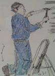 Un operari del servei de reparacions