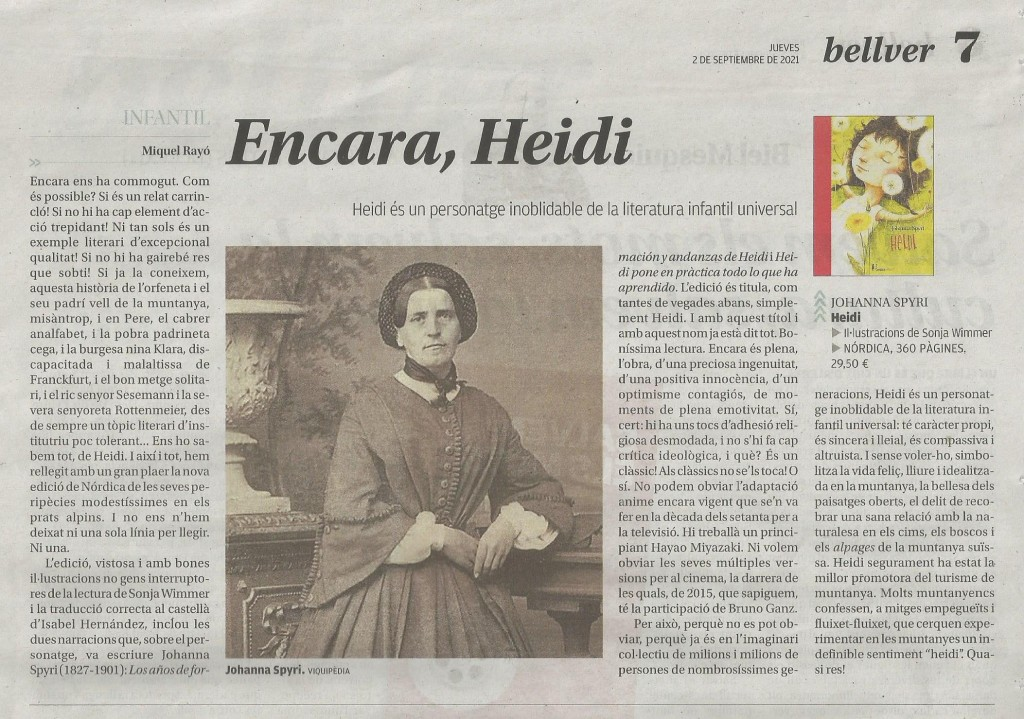 Heidi 2 setembre 2021